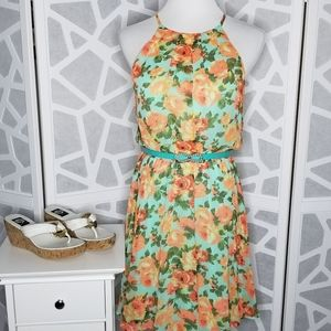 LUSH Sleeveless Dress   Floral   Size Large